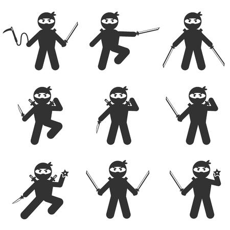 ninja: ninja icon set