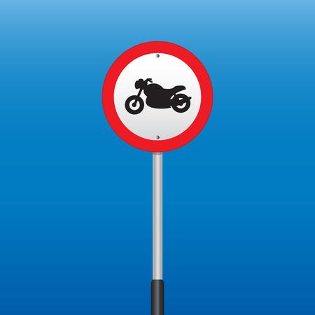 interdiction: Interdiction Signe Moto. Illustrations vectorielles