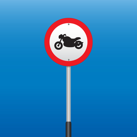 prohibition: Prohibition Sign Motorcycle . Vector illustrations