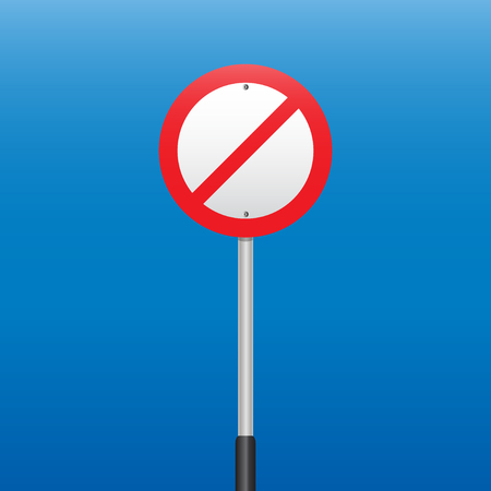 prohibition: Interdiction Sign. Illustrations vectorielles Illustration