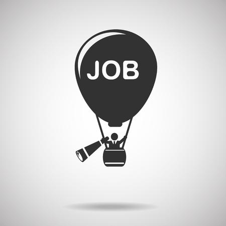 job icoon. zoeken naar een baan Stock Illustratie