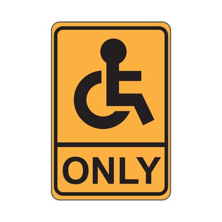 paralyze: Disabled Sign Illustration