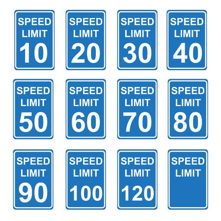 Speed Limit Sign  SET