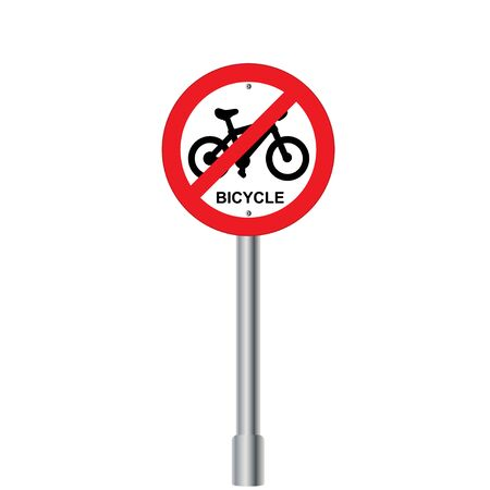 interdiction: Interdiction Signe vélo. Illustrations vectorielles Illustration