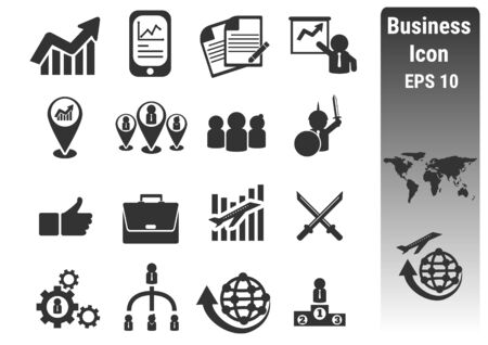 business solutions: Business icon  . silhouettes vector