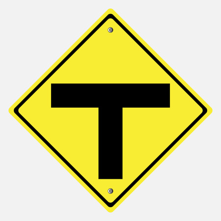motorist: Traffic sign . T intersection