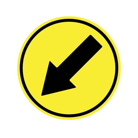 danger ahead: traffic  sign . Keep Right Sign
