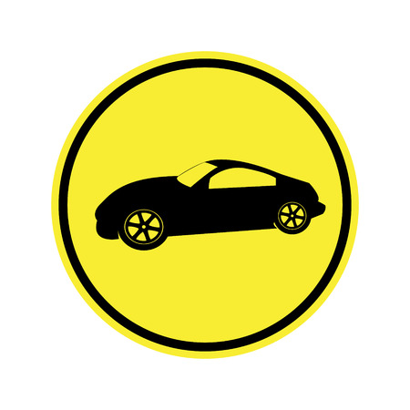 danger ahead: traffic  sign . Route for motor vehicles  Sign
