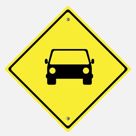 motorist: Traffic sign . CAR  vector illustration