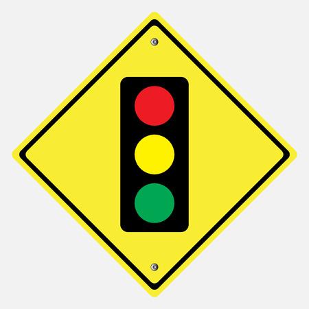 danger ahead: Traffic sign .light and traffic sign vector illustration Illustration