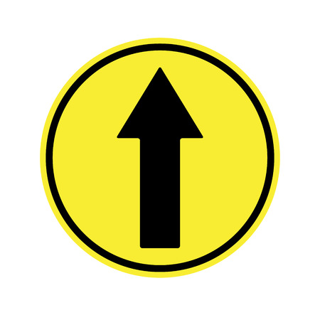 motorist: traffic  sign . Ahead Only , one way traffic sign , Drive Straight