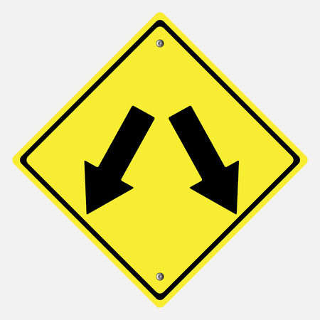 motorist: Traffic sign .  Keep Left Sign  or Keep Right