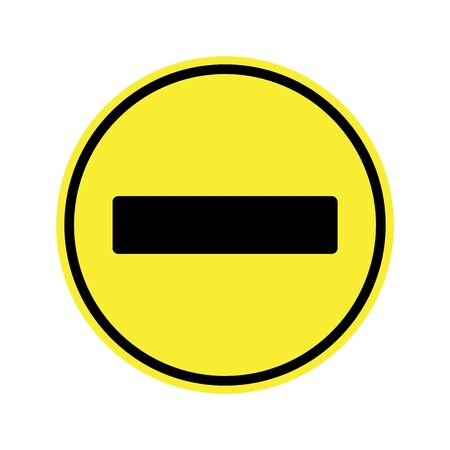 motorist: Stop Sign . No entry  Sign Illustration