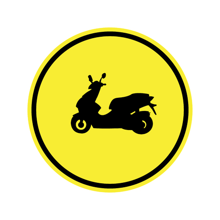 danger ahead: traffic  sign . Route for motorcycle Sign Illustration