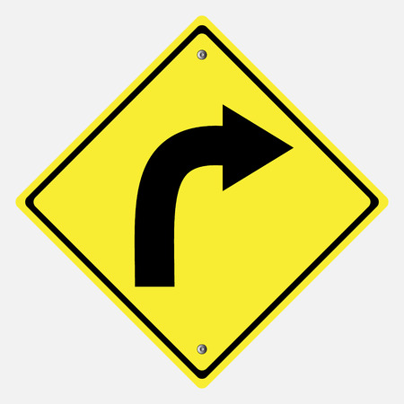 motorist: Traffic sign . Turn Right