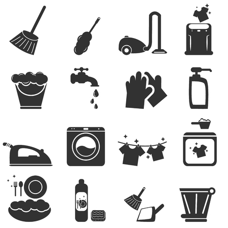 wash dishes: Cleaning Icon Illustration