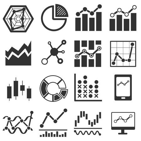 解析アイコン。データ グラフ グラフ