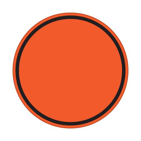 orange sign: traffic sign , orange sign circle Isolated road warning