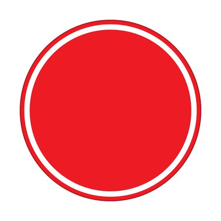 red sign: traffic sign , red sign circle Isolated road warning Illustration