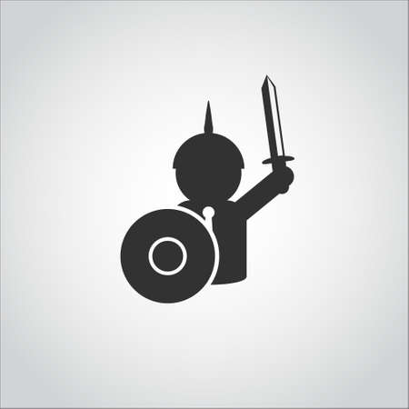 man of war: business man  war logo icon