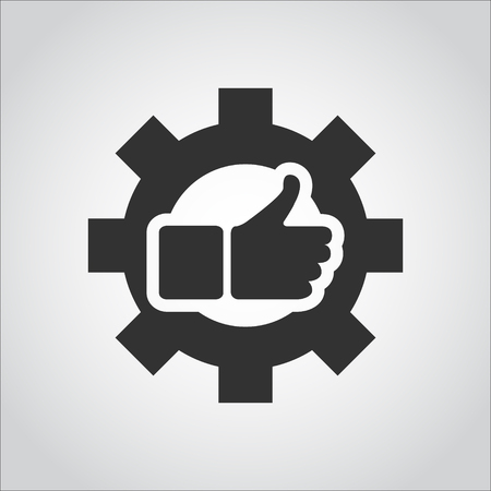 logo marketing: hand ob cog logo or icon Illustration