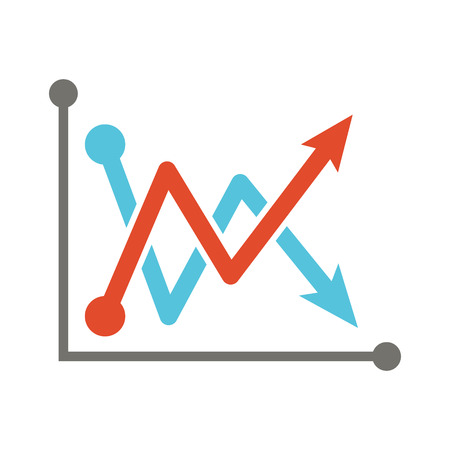 line graph: analysis  graph  flat design