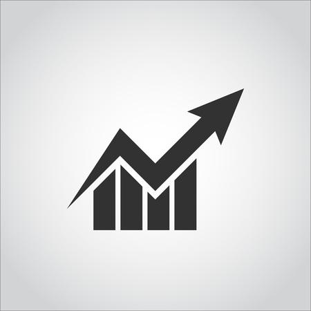 ビジネス グラフ株価チャート アイコン フラットなデザイン スタイル  イラスト・ベクター素材