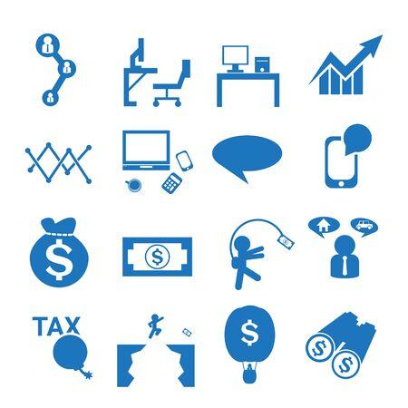 arrow icon: business blue  icon  set Illustration