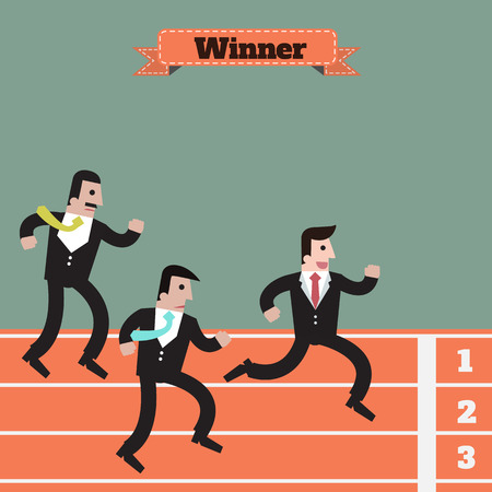 victory: businessman  running winner victory