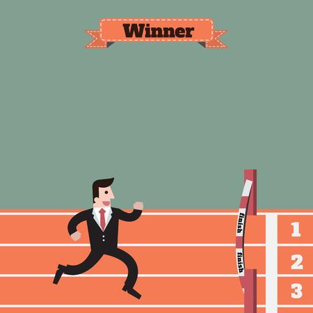 businessman running: businessman  running winner victory