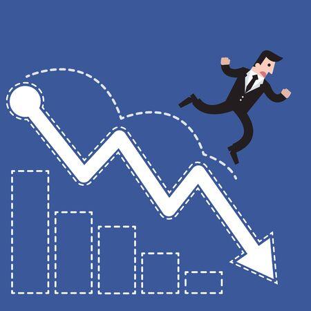penniless: Businessman walk shares fall