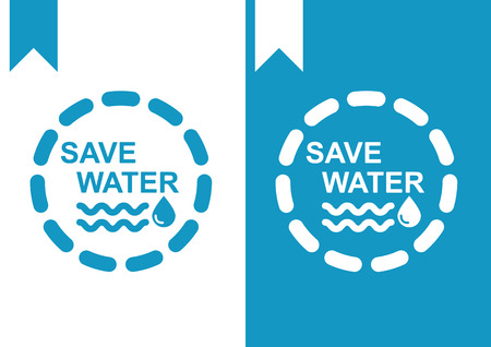 water icon: Save water Illustration