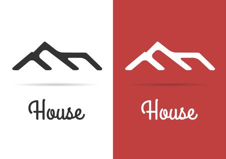real estate house: House Real Estate red design template