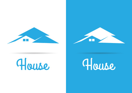 building lot: House Real Estate blue design template