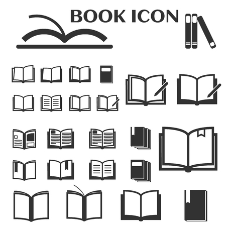 Book icons set vector illustration Illustration