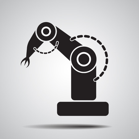 robot vector: Robotic arm  symbol icon. product development robot  icon. robot icon. industry robot icon. vector illustration
