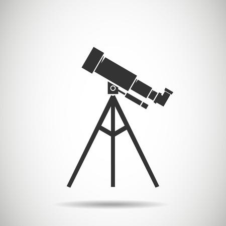 ocular: Spyglass icon.Telescope icon.vector illustration