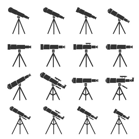 estrella caricatura: Spyglass icon.Telescope icon.vector illustration