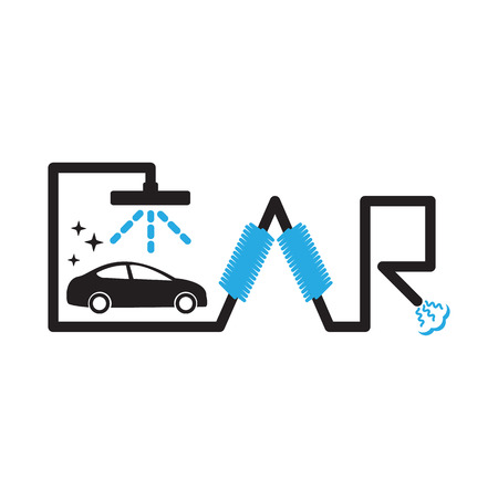 car wash: Car wash icons  .  Car wash vector illustration