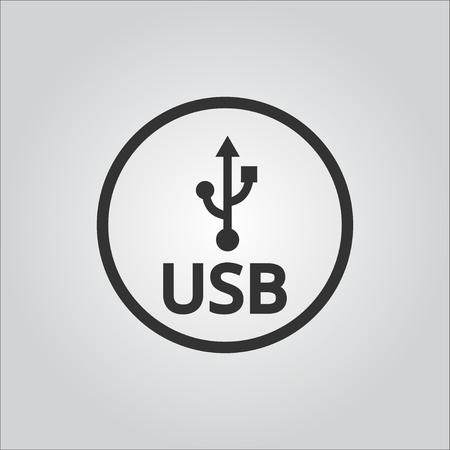 Usb Icon or Logo . usb flash drive .usb  stick .vector illustration 일러스트