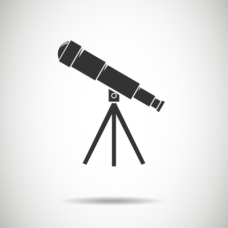 planetarium: Spyglass icon.Telescope icon.vector illustration
