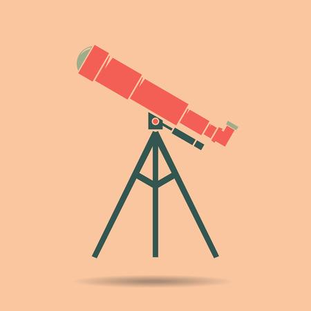 Telescope Flat design . Telescope Icon . Telescope Icon Vector  . Telescope color. Telescope vintage . Telescope vector illustration Vettoriali