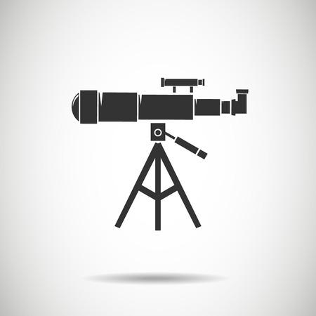 spyglass: Spyglass icon.Telescope icon.vector illustration
