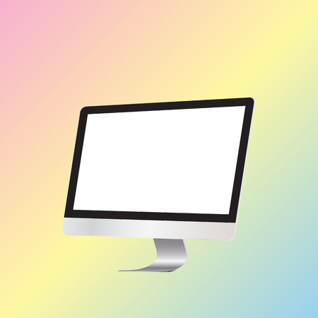 display: Computer display isolated colorful background .