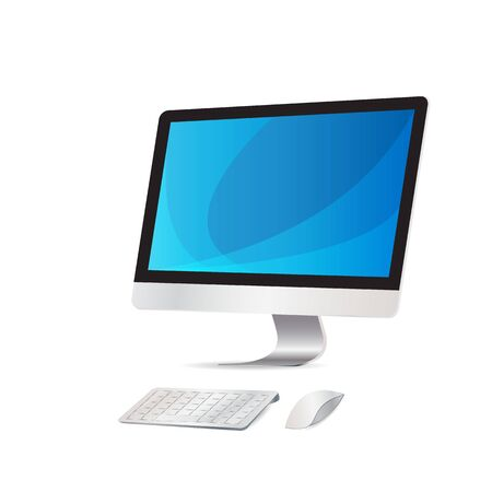keyboard and mouse: Computer display with keyboard mouse wireless