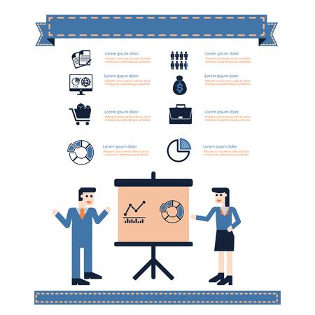 businessman present: Businessman present data  information icon infographic .