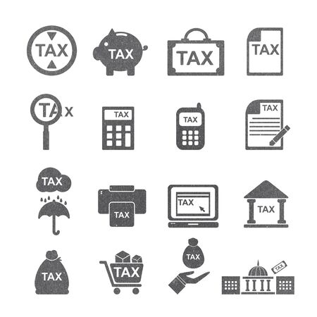 pay cuts: tax icon Stock Photo