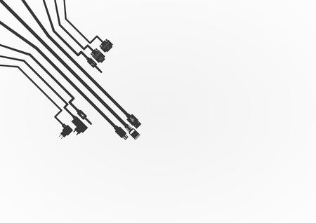 プラグ ワイヤ ケーブル ベクトル イラスト  イラスト・ベクター素材