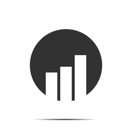 graph icon: Bar Graph Business economic icon