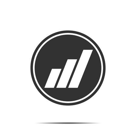 economic: Bar Graph Business economic icon